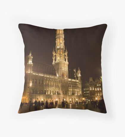 Brussels at night (Belgium) Throw Pillow