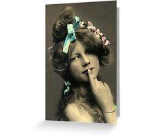 *Sssshhhhh* Vintage Beauty Greeting Card