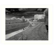 Photographic Art. Urban Landscape. The Canal Waterway's.  Art Print