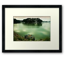 Yes. It does float. Framed Print
