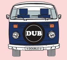 Volkswagen Type2 Bay Window Blue Kids Tee