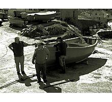Coverack Boatmen  Photographic Print