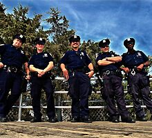 NYPD @ Coney Island by Ken Yuel