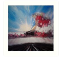 'Moorland Tracks 2' Art Print