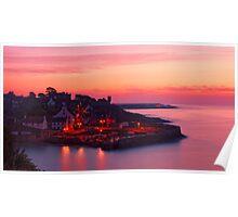 Crail Harbour Sunrise Poster