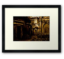 Catacombs at Highgate Cemetery (West) Framed Print