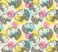 Flying Elephants by Dinara May