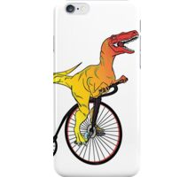 Dinosaur Riding a Penny Farthing iPhone Case/Skin