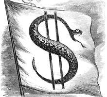 Rattlesnake Flag by Vintage Works