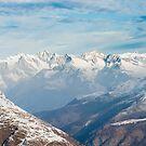 Bietschorn mountain range in Wallis by peterwey