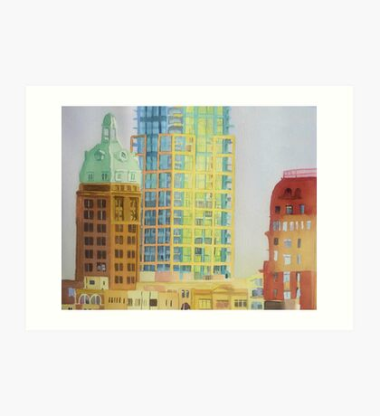 From the station, watercolor on paper Art Print