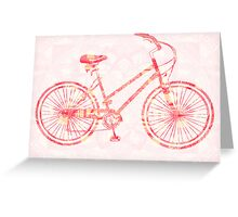 The Tattoo Bycicles-  Pink Dream Tattoo Greeting Card