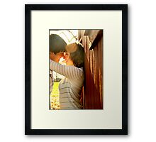Kids in Love Framed Print