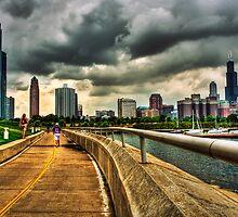 Brooding Clouds Over Chicago by Jayme Rutherford