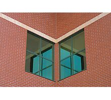 Brick and Green Glass Photographic Print