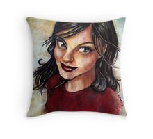 Lisa painted Throw Pillow