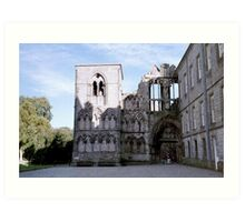 The Ruined Abbey, Holyrood Palace, Edinburgh Art Print