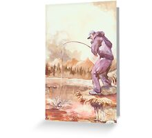 Morning Catch – NO Escape!!!… Greeting Card