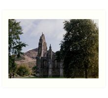 The Ruined Abbey at Holyrood Palace Art Print