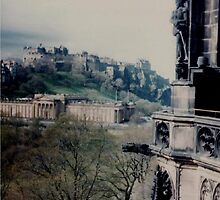View Of Edinburgh  Castle from the Walter Scott Monument by MagsWilliamson
