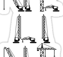 Loneliness of a Tower Crane Driver Sticker