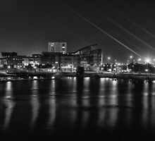 Cardiff bay at night by Rory Trappe