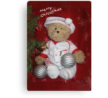 Merry Christmas from Peter Bear Canvas Print