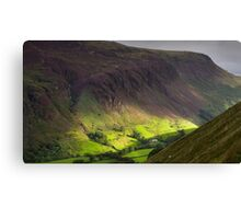 The valley at Tal y Llyn - North Wales Canvas Print