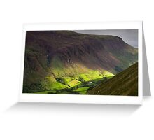 The valley at Tal y Llyn - North Wales Greeting Card