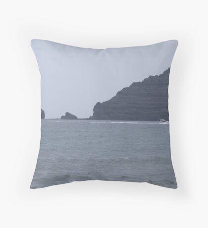 Punta Fariones, Lanzarote, Canary Islands Throw Pillow