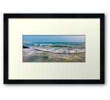 sea curve Framed Print