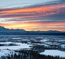 Alaska Range Sunset by Bryan Minnear