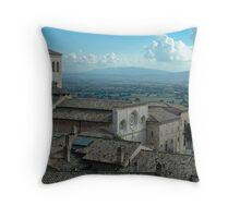 St. Clare of Assisi - Italy Throw Pillow