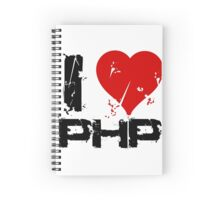 I Love PHP Spiral Notebook