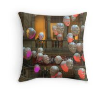 Face In The Crowd Throw Pillow