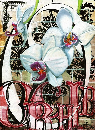 O is for Orchid 2 by sadeyedartist