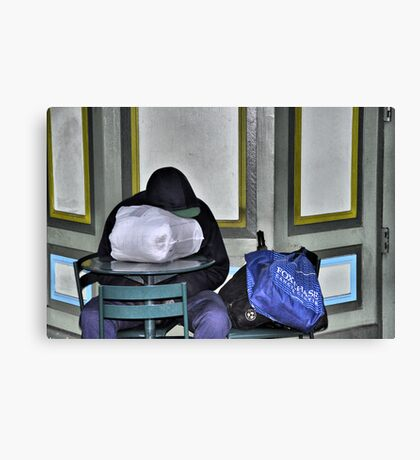 The Blue Bag Canvas Print