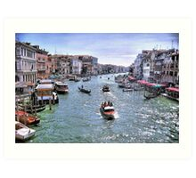 Rush Hour In Venice! Art Print
