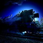 MIDNIGHT TRAIN (blue edition) by Johan  Nijenhuis