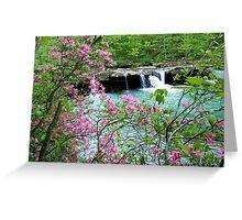 Kings River Falls Dressed In Pink Greeting Card