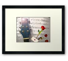 Hearts and Thoughts Framed Print