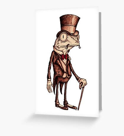 'Pretentious Frog' Greeting Card