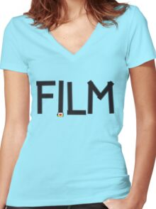 Film Women's Fitted V-Neck T-Shirt