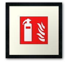 Fire Extinguisher Framed Print