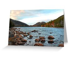 'Jordan Pond and the Bubbles' Greeting Card