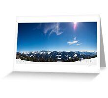 Panorama Alpwegkopf Greeting Card