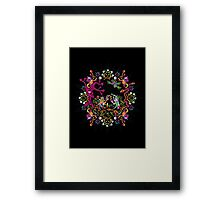 Aztec meeting psychedelic T-shirt Framed Print