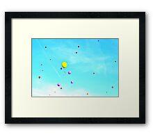 baloons & sky &spring Framed Print