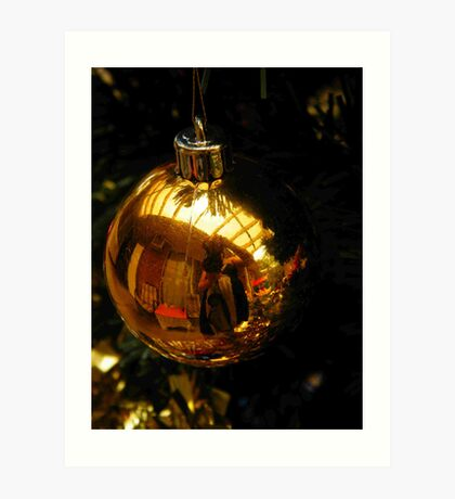 Golden Olden Christmas  Art Print