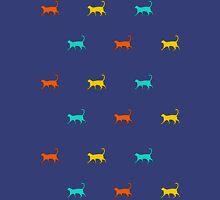 Cat Walk (Indigo) Unisex T-Shirt